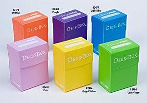 Set of Six New Ultra-Pro Deck Boxes (Incl. Orange, Purple, Light Blue, Pink, Yellow, Light Green) For Magic/Pokemon/YuGiOh Cards