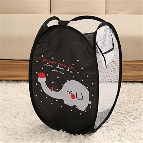 Purchase Fashionclubs Foldable Elephant Mesh Pop up Hamper Laundry Basket,Baby Toys Organizer Basket