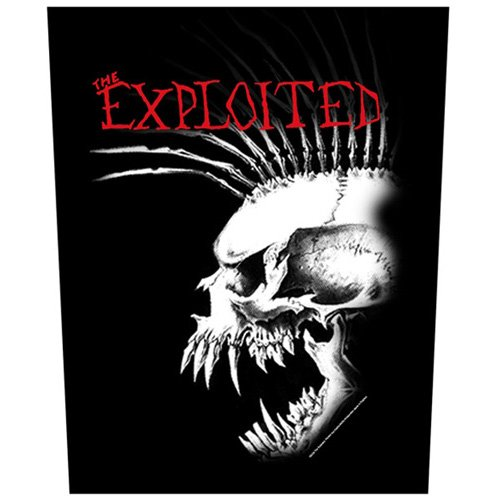 Exploited - Backpatch Bastard Skull (in 23,5 cm x 20 cm)