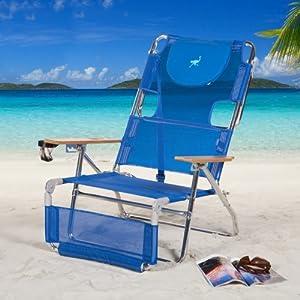 Ostrich 3 N 1 Beach Chair Lounger Color: Blue [3N1-1001B] by Ostrich
