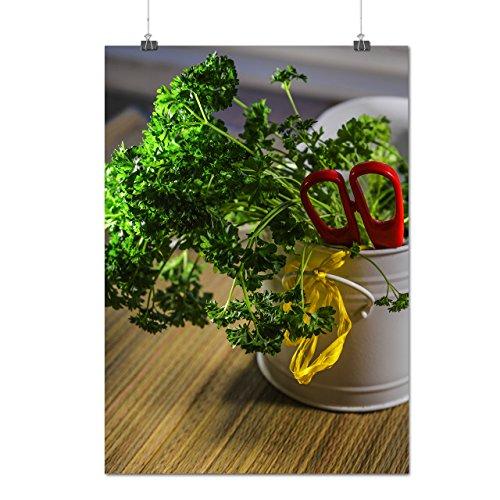 Frais vert Légume Persil Matte/Glacé Affiche A0 (119cm x 84cm) | Wellcoda