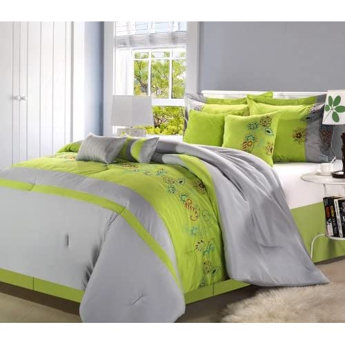 Black And Neon Green Bedding Sets
