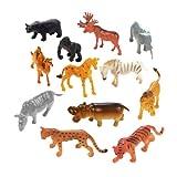 12-pc Plastic Safari Animals