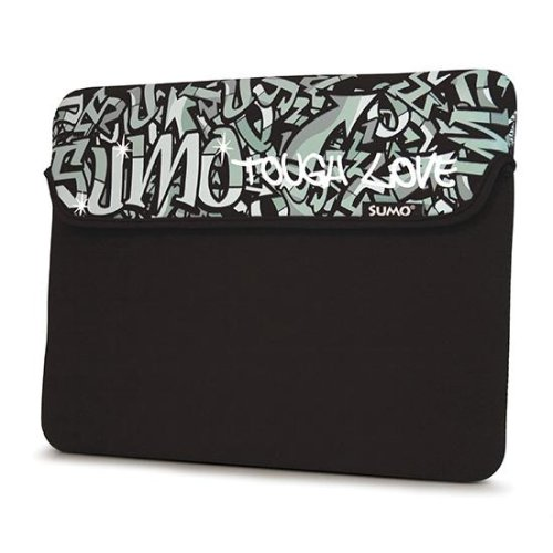 Black Graffiti Neoprene Netbook Sleeve Case