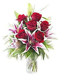 KaBloom Season of Love with Stargazers and Roses