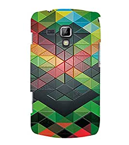 PrintVisa Geometrical Pattern 3D Hard Polycarbonate Designer Back Case Cover for Samsung Galaxy S Duos S7562