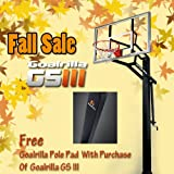 Goalrilla GLR GS III In-Ground Basketball System with 54-Inch Aluminum Framed Tempered Glass Backboard