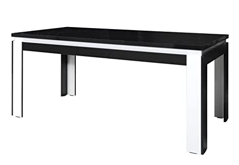 Tisch 180x90 cm, Farbe: Schwarz / Weiß