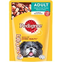 Pedigree Adult Dog Food Chicken & Liver Chunks Flavour In Gravy, 80 g
