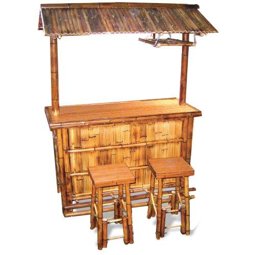 ## Homestyle BABBRC 3-Piece Outdoor Bamboo Tiki Bar Set