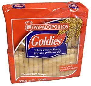 Goldies Toast Rusks - Wheat, 255g-Red Bag