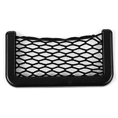 Black Universal Car Seat Side Back Pocket Storage Organizer Nylon Net Bag Phone Holder - 1