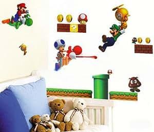 Eozy 1pc Un Papier Peint Le Dessin De Super Mario Bros