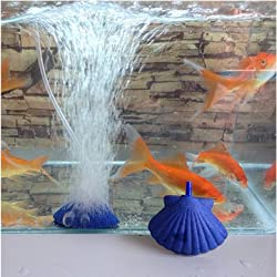Shell Shape Air Stone Bubble Aquarium Fish Tank Hydroponics Aerator Diffuser Fish Tank Bubble Pump -