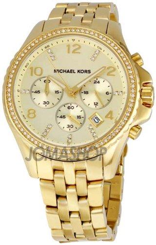 Michael Kors Oversized Gold-tone Glitz Chronograph Ladies Watch MK5347