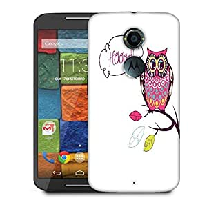 Snoogg Cute Vector Owl Hoooot Card Designer Protective Phone Back Case Cover For Moto X 2nd Generation