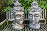 Large ornate stone Buddha Head ornament