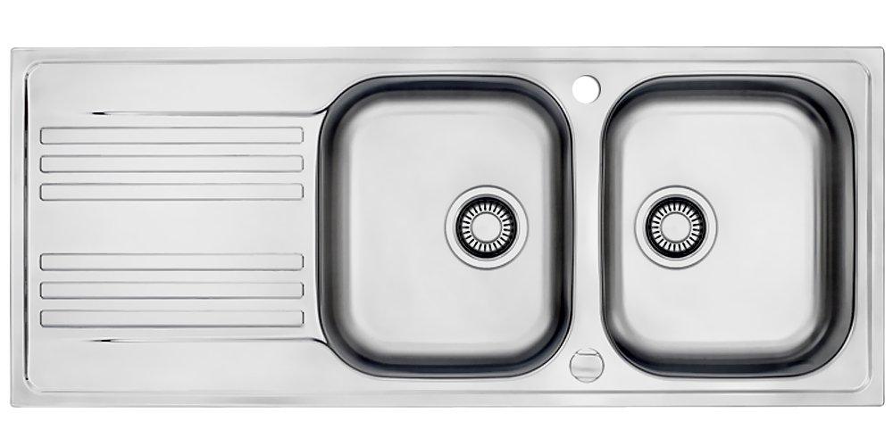 Franke Euroform EFX 621 Edelstahl Doppelbecken Küchenspüle Spültisch Exzenter  BaumarktBewertungen