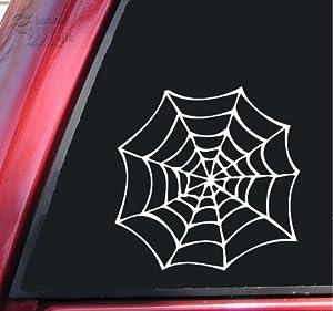 Spider Web Vinyl Decal Sticker - White