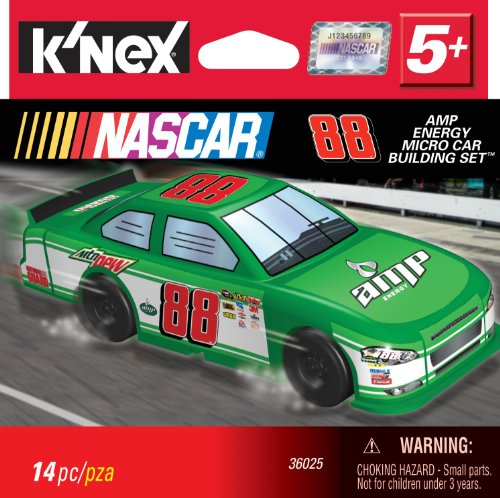 K'Nex NASCAR #88 AMP Energy Micro Car Building Set - 1