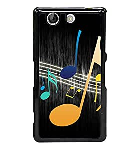 Music Beats 2D Hard Polycarbonate Designer Back Case Cover for Sony Xperia Z4 Compact :: Sony Xperia Z4 Mini