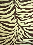Sculpted Modern Zebra Print Rug 5 Ft. 2 In. X 7 Ft. 3 In. # S245 Red