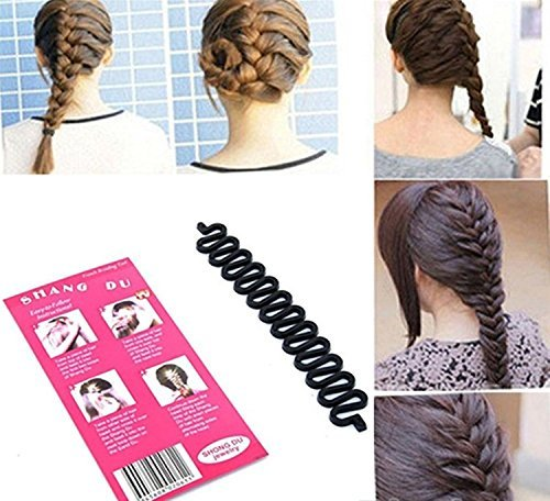 51%2B9ws%2BdmAL - BEST BUY #1 Fashion French Hair Braiding Tool Roller With Magic hair Twist Styling Bun Maker
