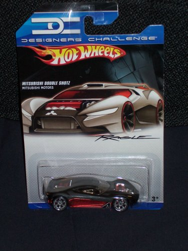 Hot Wheels Designers Challenge Black and Red Mitsubishi Double Shotz 1:64 Scale
