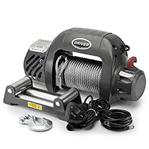 -TITANIUM Electric Heavy Duty Recovery Winch - 12,000 Pound Capacity