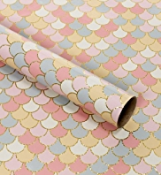 Pastel Scalloped Design Roll Wrap