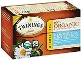 Twinings Camomile with Mint and Lemon Organic Tea, 20 Count Tea Bags