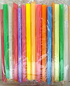Bag of Large Straws for Bubble Tea (Individually Wrapped)
