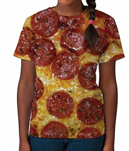 Pepperoni Pizza Fun Novelty Food Italian Funny Girls Unisex Kids Child T Shirt