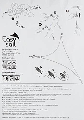 Easy Sail ESCA300 - Vela de sombra para patio
