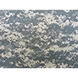 "Water Repellent ACU Digital Military Camouflage Fabric, Stretch Woven. 60"" By the Yard"
