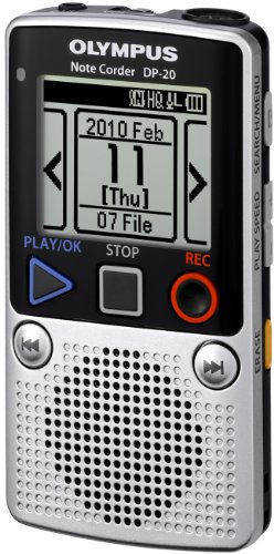 Olympus DP-20 – Digital voice recorder – flash 1 GB – WMA – display: 1.78″ – silver