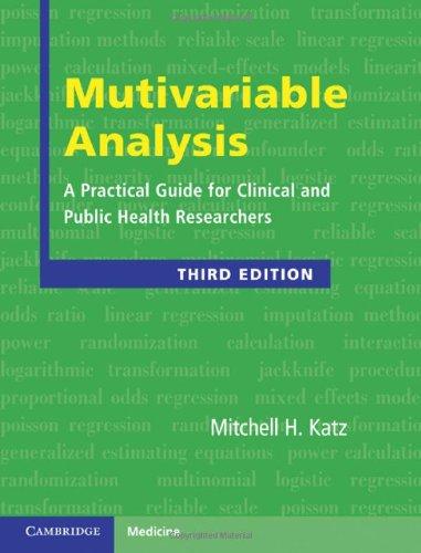 Multivariable Analysis (Cambridge Medicine (Hardcover))