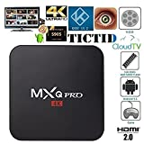TICTID MXQ Pro Android TV Box Amlogic S905 Chipset Kodi Full Loaded Android 5.1 Lollipop OS TV Box Quad Core 1G/8G 4K Google Streaming Media Players with WiFi HDMI DLNA