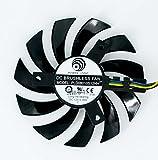 交換チップファン グラフィックカードクーラー ビデオカードクーラー (PLD08010S12HH 75mm DC12V 0.35A 4pin)