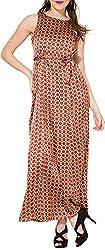 Folklore Women's A-Line Dress (FOJ6000165_Beige_Medium)