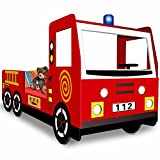 Kinderbett inklusive Lattenrost - Spielbett Autobett Feuerwehrbett Bett Lattenrost Feuerwehr