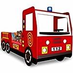 Feuerwehrbett inkl. Lattenrost - Auto...
