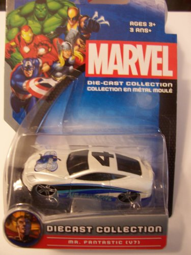 Marvel Universe Die-Cast Collection ~ Mr Fantastic V7 (White and Blue #4)