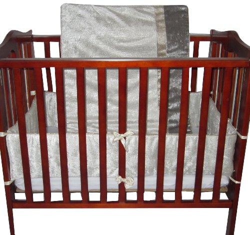 Grey BabyDoll Modern Hotel Style Port-A-Crib Bedding Set