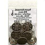 8 Jeans Knöpfe altsilber 20 mm, Jeansknöpfe Metallknopf,...