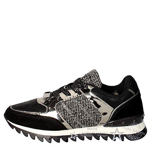 Laura Biagiotti 1556 Sneakers Donna Camoscio/tessuto Nero Nero 36