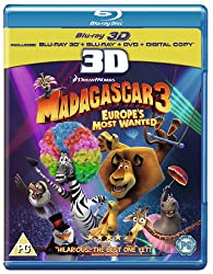 Madagascar 3: Europe's Most Wanted (Blu-ray 3D + Blu-ray + DVD + Digital Copy)[Region Free]