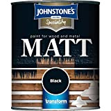 Johnstones Specialty Paints Flat Matt Black Non Reflective Paint 250ml
