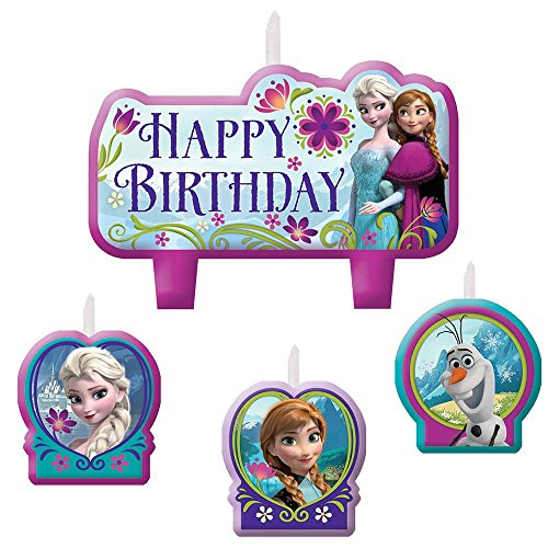 Frozen Birthday Candle Set (Set Of 4) - 1