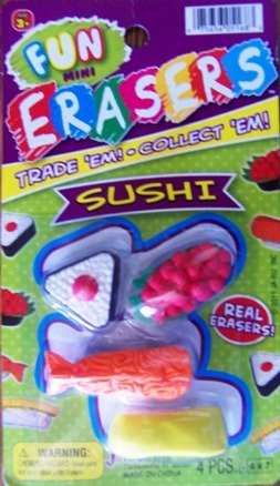 Fun Mini Erasers (Sushi) - 1